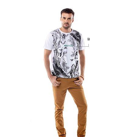 Camiseta Estampa Ondas TZE