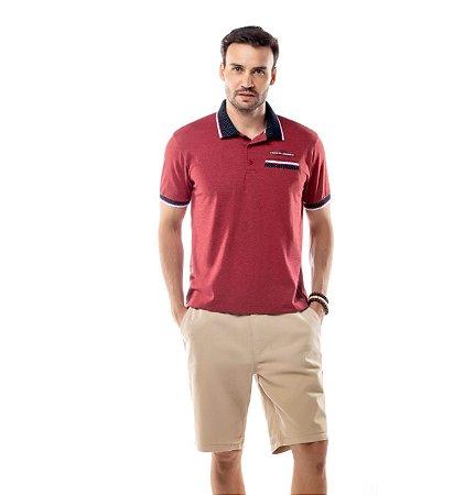 Camisa Polo Bolso Retilínea Jacquard TZE