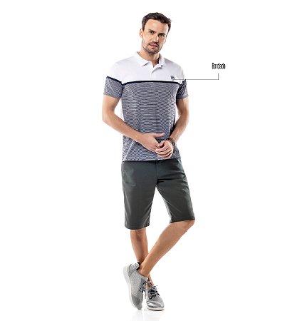 Camisa Polo Recorte Listy TZE