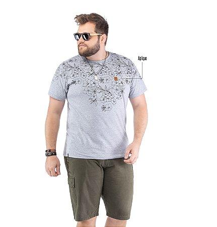 Camiseta Estampa Floral Plus No Stress