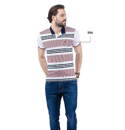 Camisa Polo Estampa Listras TZE