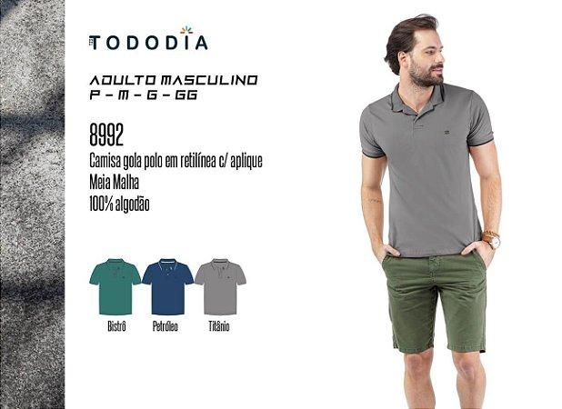 Camisa Polo Aplique Logo TZE