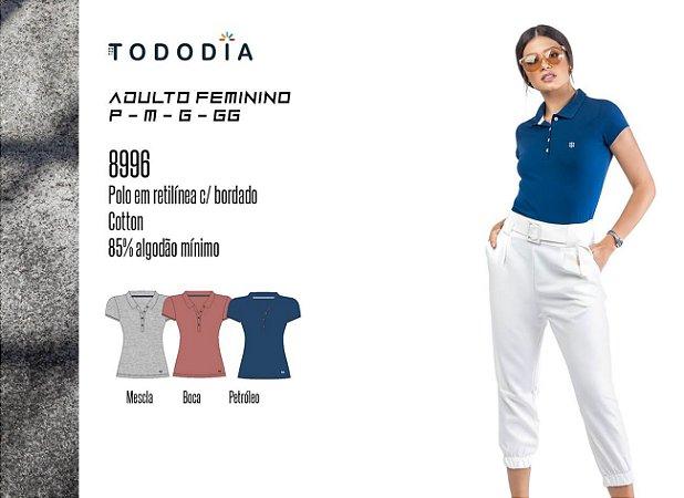 Camisa Polo Cotton Bordado Oui.la.vie