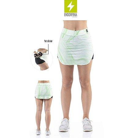 Short Saia Estampado com Bolso Celular Endorfina