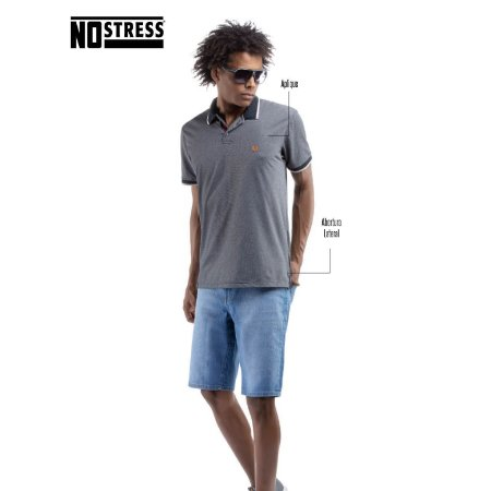 Camisa Polo Piquet Bicolor No Stress