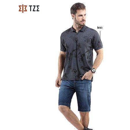 Camisa Polo Estampada Floral TZE