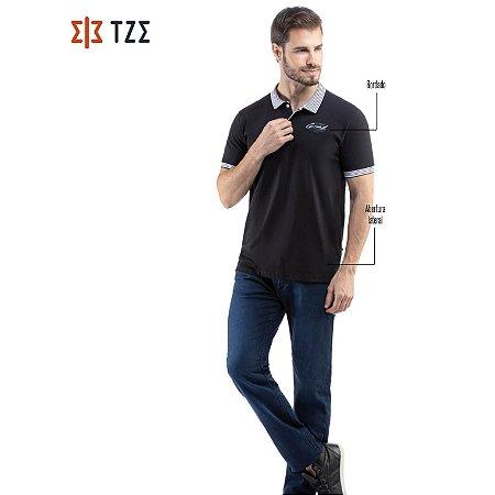 Camisa Polo Retilínea Listrada TZE