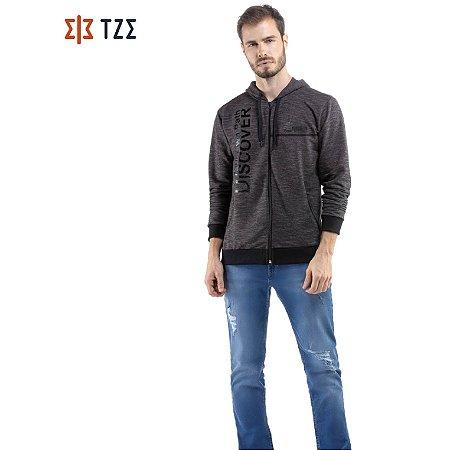 Jaqueta de Moletom com Estampa e Capuz TZE