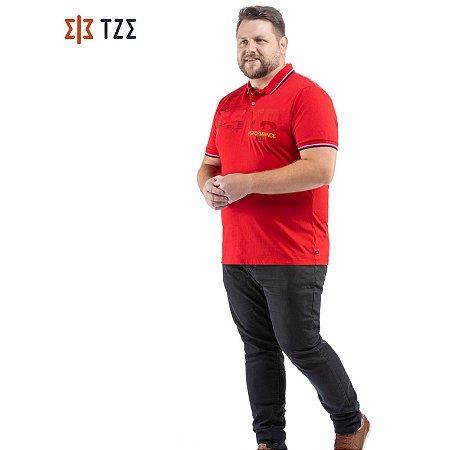 Camisa Polo com Estampa TZE Plus