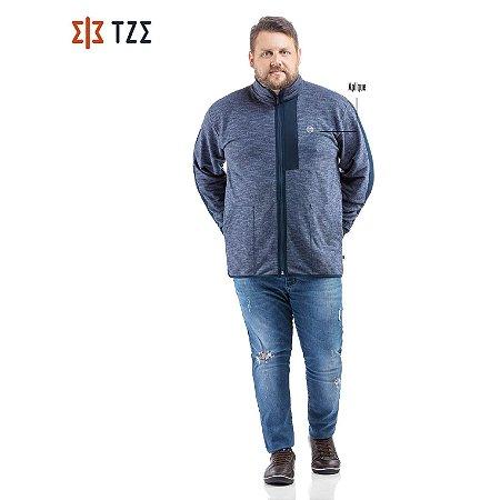 Jaqueta de Moletom com Recortes TZE Plus