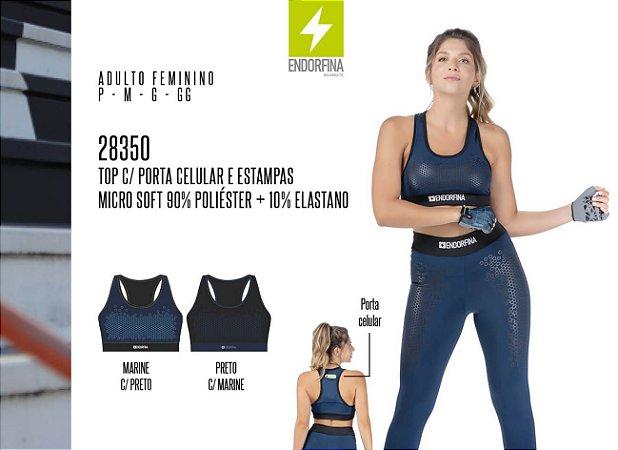 Top Feminina Endorfina c/ Porta Celular e Estampas
