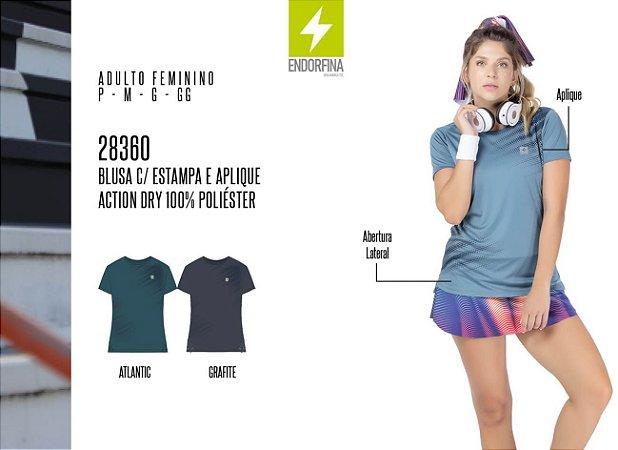Blusa Feminina Endorfina c/ Estampa e Aplique