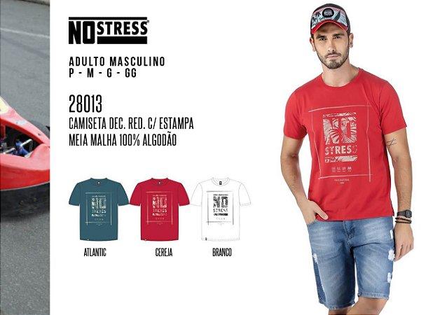 Camiseta Dec Red. Masculina No Stress c/ Estampa