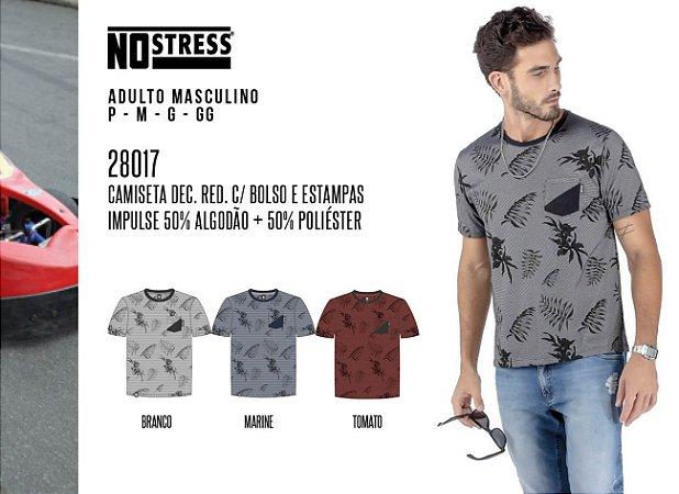 Camiseta Dec Red. Masculina No Stress c/ Bolsos e Estampas