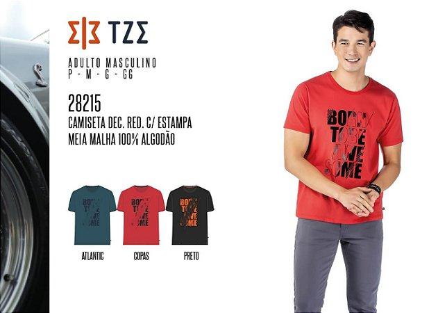 Camiseta Dec. Red. Masculina TZE c/ Estampa