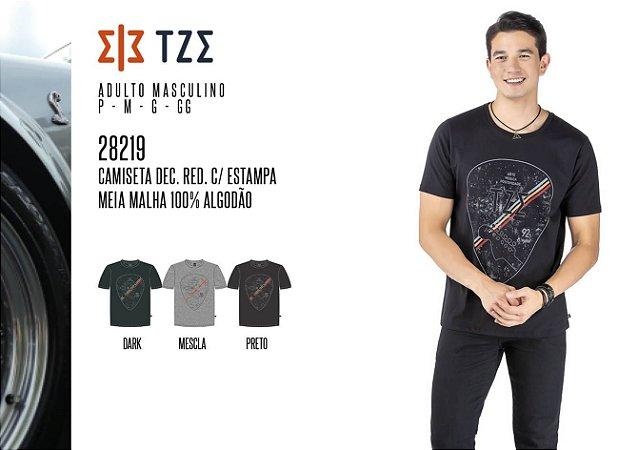 Camiseta Dec. 'V' Masculina TZE c/ Estampa
