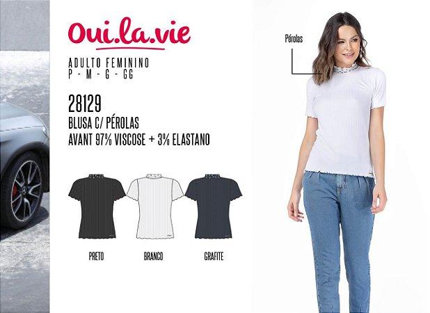 Blusa Feminina Oui.la.vie c/ Pérolas