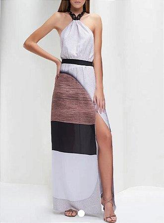 Vestido print  wood color