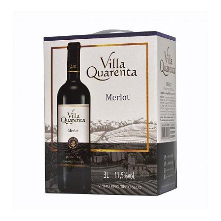 Villa Quarenta Bag In Box Merlot - 3 Três litros