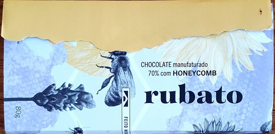 Rubato Chocolate 70% com Honeycomb  80g