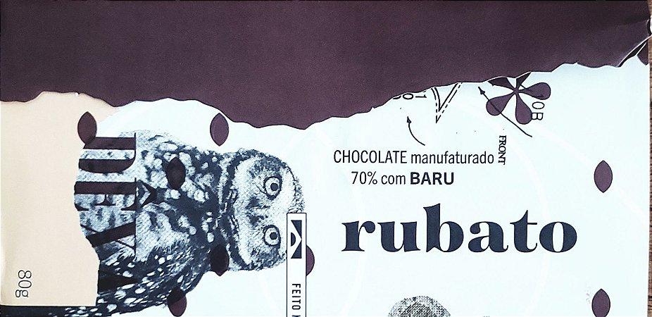 Rubato Chocolate 70% com Castanha de Baru  80g