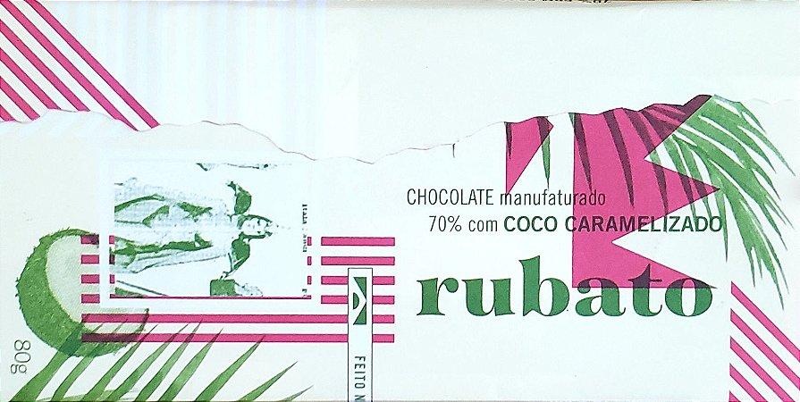 Rubato Chocolate 70% com Coco Caramelizado 80g