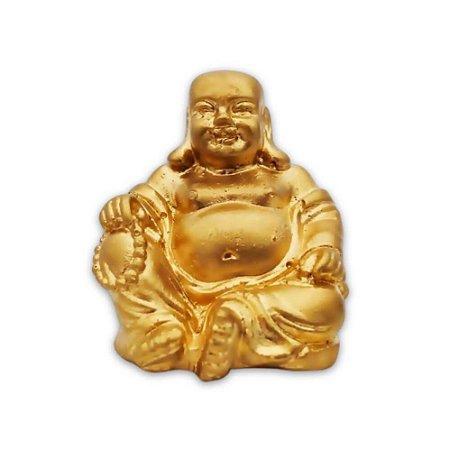 Buda Riqueza & Felicidade - Cor Ouro