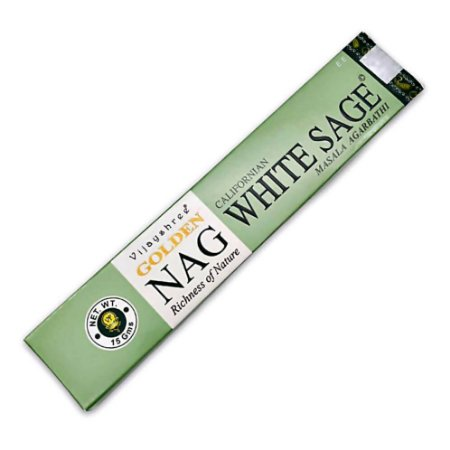 Incenso Golden Nag Sálvia Branca - Vijayshree