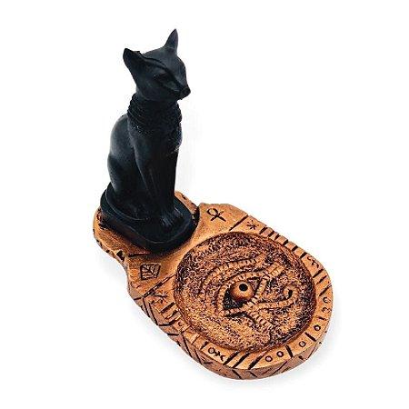 Incensário Gato Egípcio Bronze