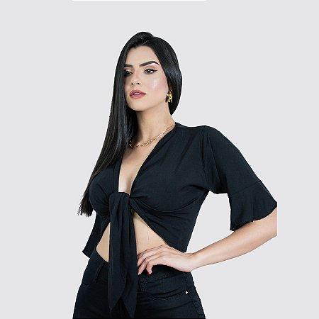 Blusa Feminina com Amarração Milnebay REF.:9780