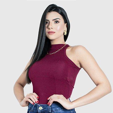 Blusa Feminina Gola Alta Milnebay  REF.:15000