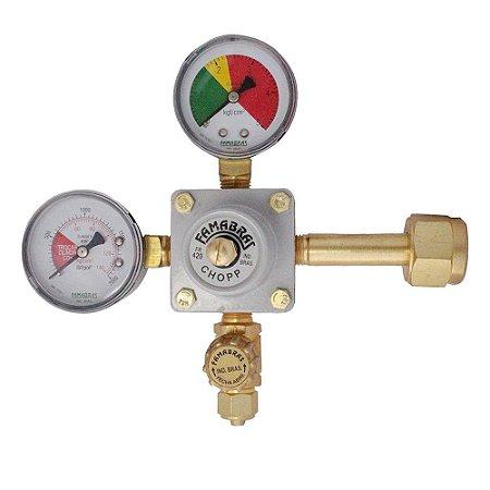 Regulador Pressão CO2 | 1 manômetro + 1 saída