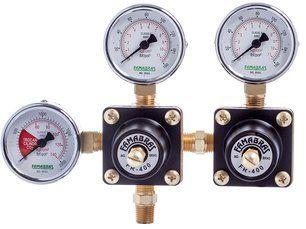 Regulador Pressão CO2 | 2 manômetros + 2 saídas
