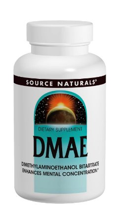 DMAE DIMETHYLAMINOETHANOL BITARTRATE 351MG - 100 Tabletes - Suporta Concentração Mental - Source Naturals