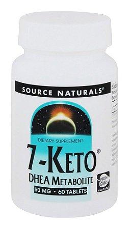 7-Keto Dhea 50mg - 60Tabletes - Source Naturals