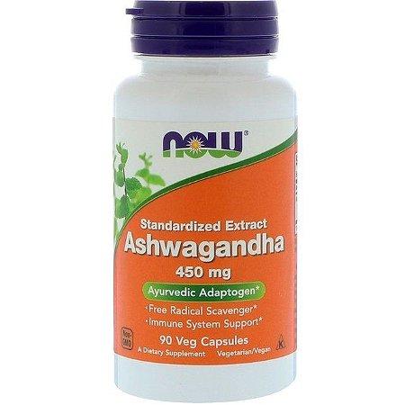 Ashwagandha 450 mg - 90 Cápsulas - NOW Foods