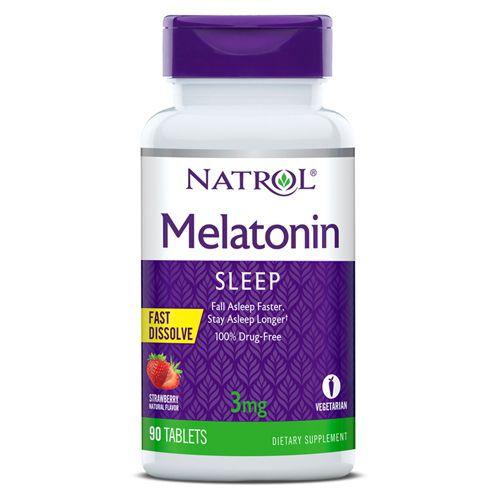 Melatonina 3 mg - Fast Dissolve - 90 Tabletes - Natrol