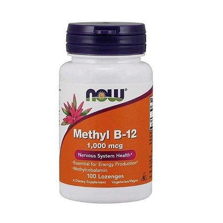 Methyl - Vitamina B12 1000 mcg 100 Tabletes - Sub-lingual (Lozenges) - NOW Foods