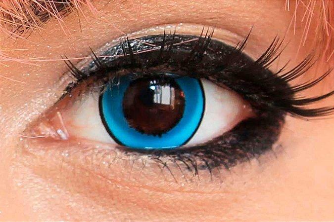 Lente de contato azul - Donut Blue