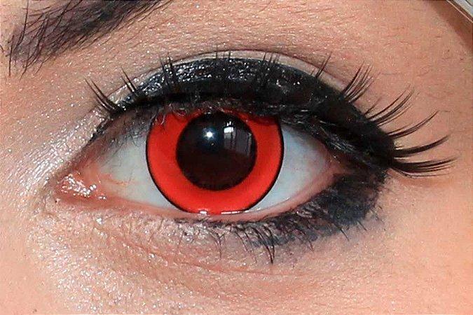 Lente de contato vermelha - Donut Red