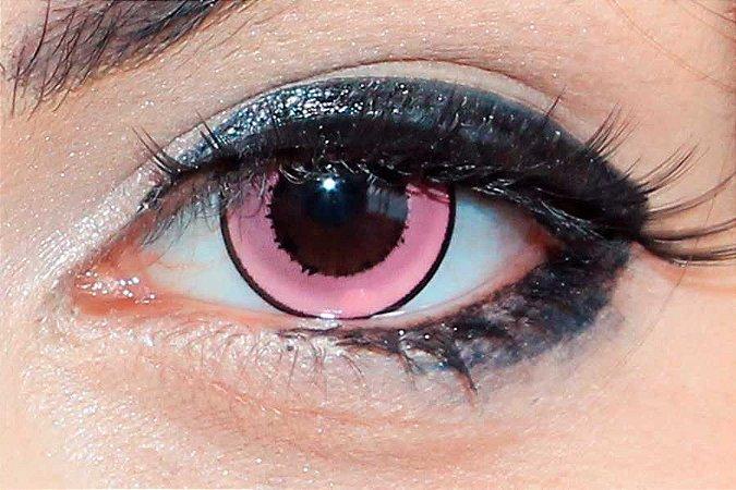 Lente de contato rosa - Donut Pink