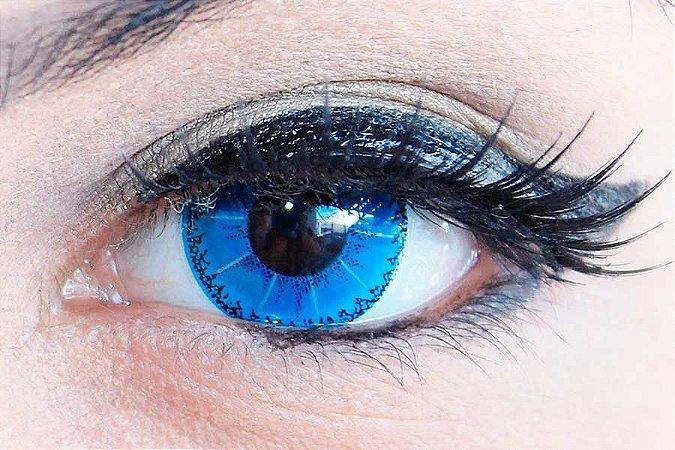 Lente de contato azul - Demon Blue