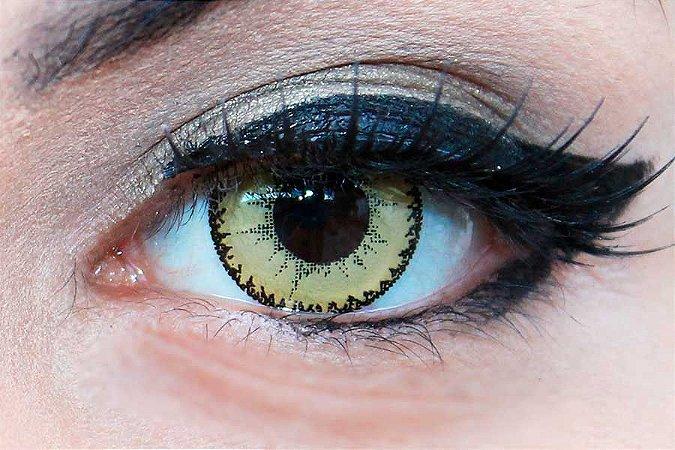 Lente de contato amarela - Demon Brown