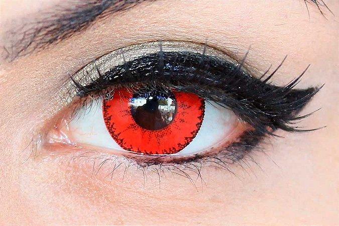Lente de contato vermelha - Demon Red