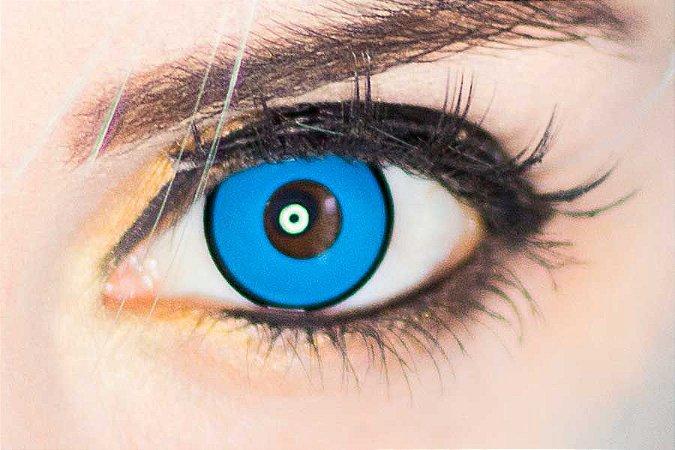 Lente de contato azul - Manson Blue