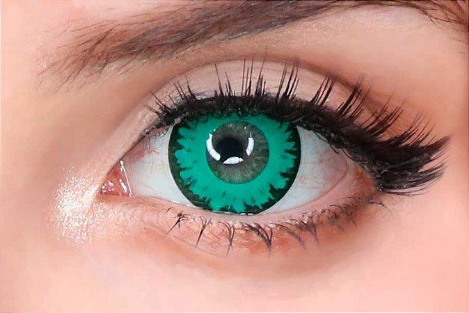 Lente de contato verde - Wolf Green