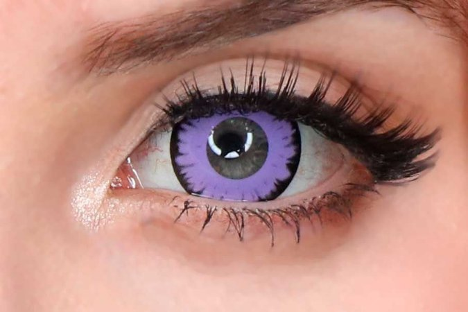 Lente de contato roxa - Wolf Purple
