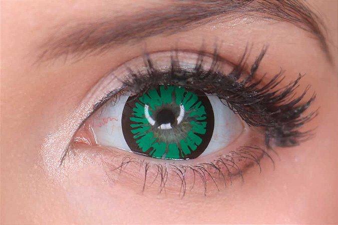 Lente de contato verde - Amber Green
