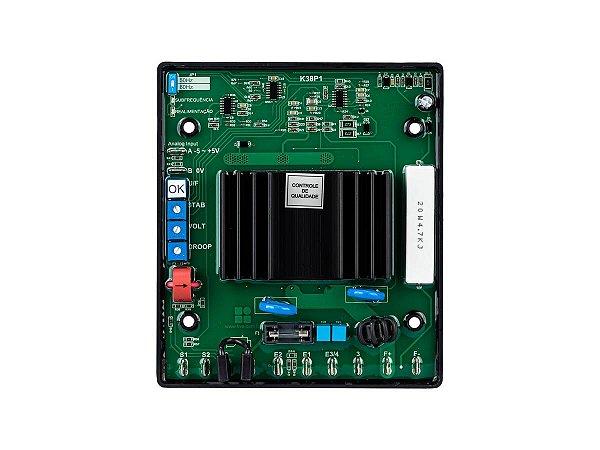 Regulador de Tensão TRI/MONO K38 AVR PK para Geradores Brushless
