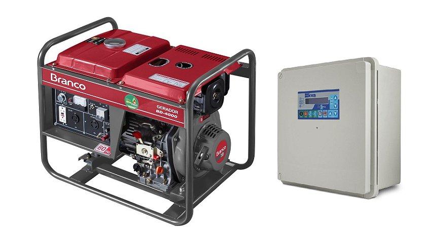 Grupo Gerador a Diesel 3.3Kva Part. Manual BD4000 Marca Branco + QTA 32A